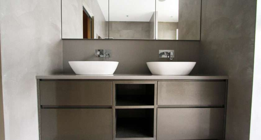 Matt Lacquered Bathroom Cabinets Bespoke Fitted Furniture