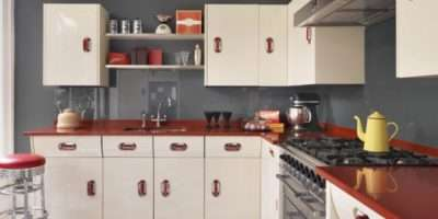 Maximizing Cabinet Color Create Retro Style Kitchen