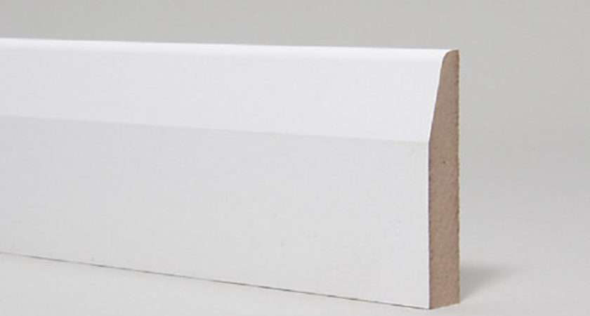 Mdf Moulded Primed Chamfered Rounded Skirting