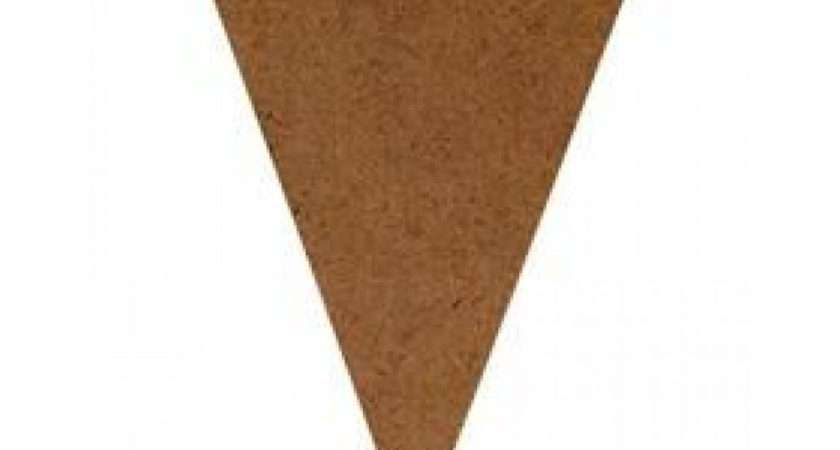 Mdf Shapes Mini Pennant Bunting Making Templates Decorate