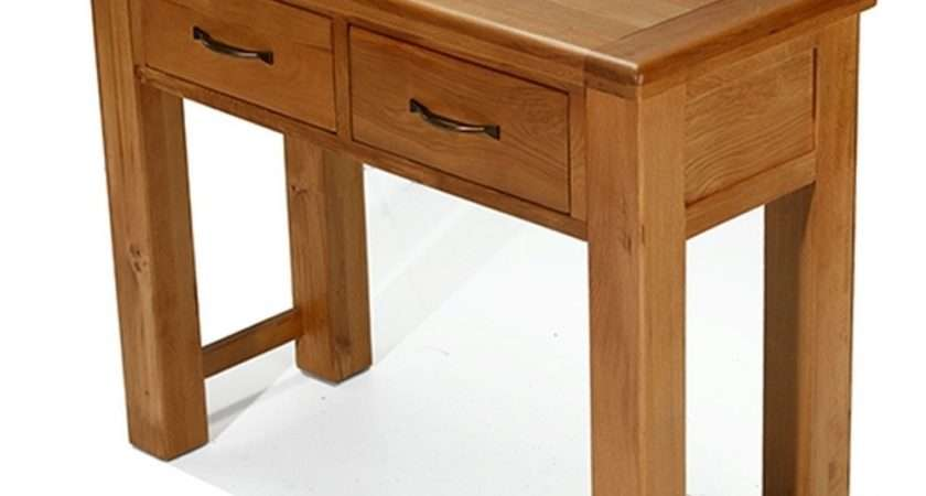 Melrose Solid Oak Furniture Small Console Hall Table