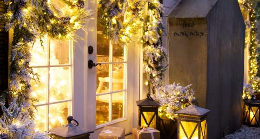 Merry Bright Christmas Outdoors French Country Cottage
