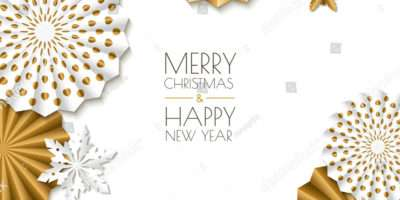 Merry Christmas Happy New Year Greeting Vector