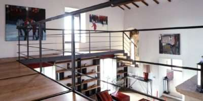 Metal Balustrade Mezzanine Interior Design Ideas