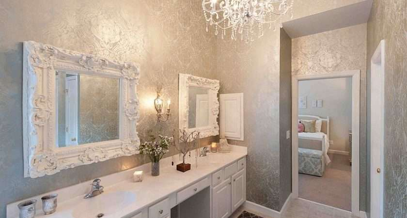 Metallic Silver Bathroom Heather Odonovan Interior Design