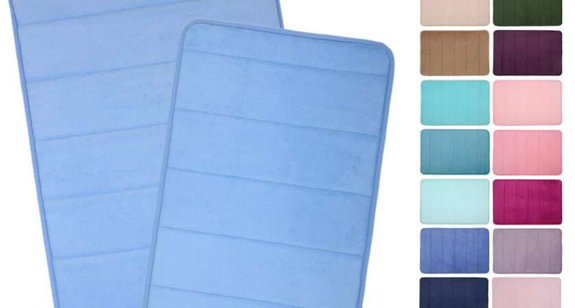 Microfibre Memory Foam Bathroom Bath Mat Colours