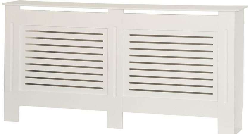 Milton Radiator Cover White Modern Mdf Wood Cabinet Grill