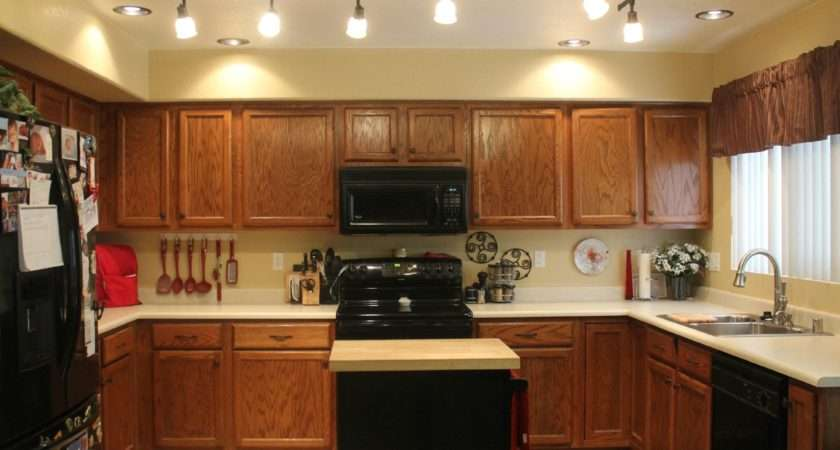 Mini Kitchen Remodel New Lighting Makes World Difference