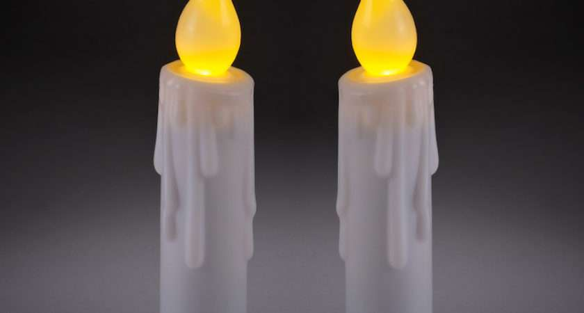 Mini Theatrical Battery Led Taper Candles Lights Fun