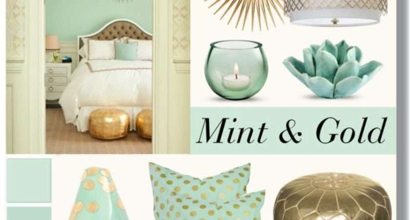 Mint Gold Home Life Pinterest