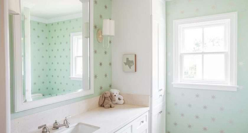 Mint Green Bathroom Vanity Dot Tiles