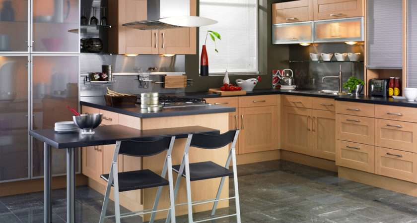 Mint Value Kitchens Part Shaker Beech Kitchen Design