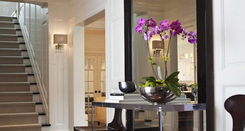 Mirror Table Chairs Entryway Large Length