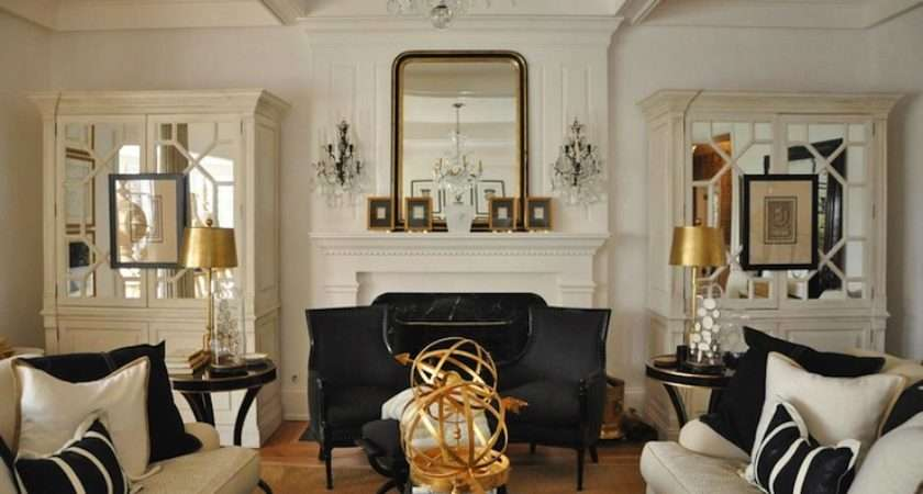Mirrored Armoire French Living Room Megan Winters