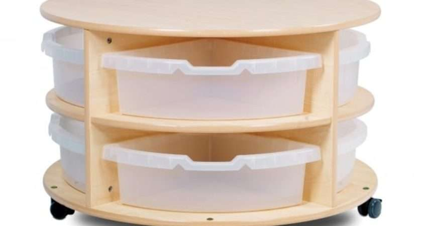Mobile Circular Low Level Storage Unit Early Years Resources