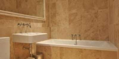 Modern Beige Brown Orange Bathroom Mirror Mirrors Tiled Tiles