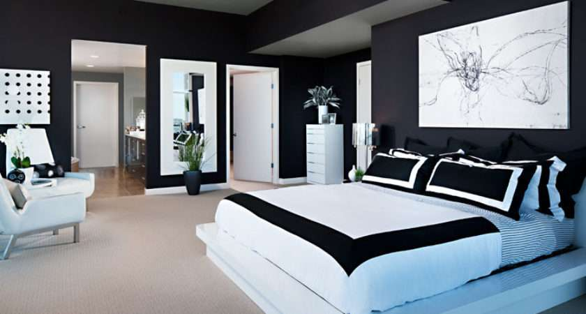 Modern Black White Bedroom Interior Design Photographer Zack