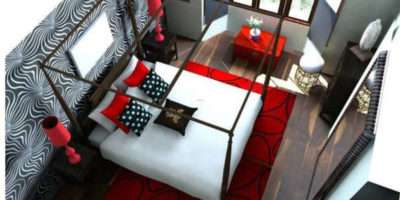 Modern Black White Red Bedroom Ideas Source