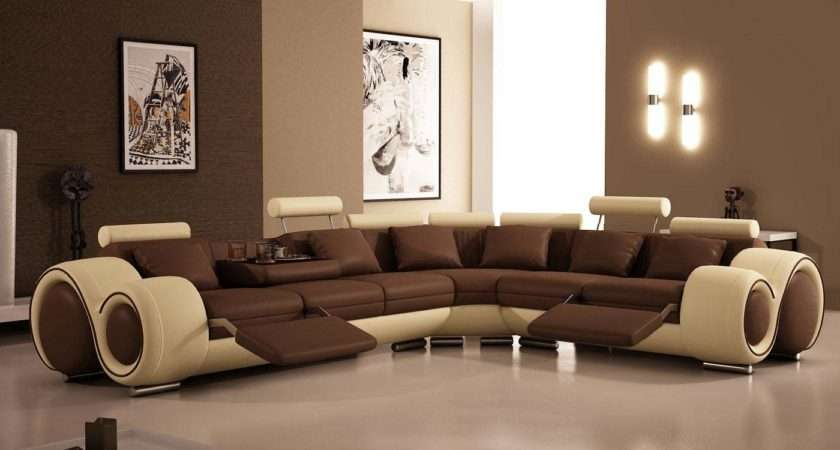 Modern Brown Sofa Design Living Room Felmiatika