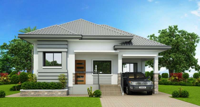 Modern Bungalow House Design Three Bedrooms