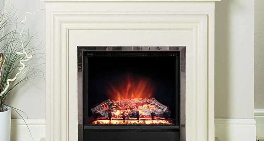 Modern Carina Cream Electric Fire Suite Living