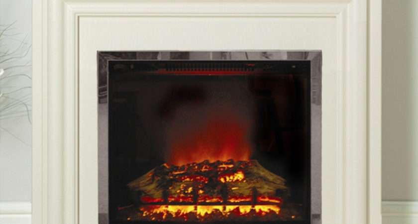 Modern Carina Eco Electric Fireplace Suite Flames