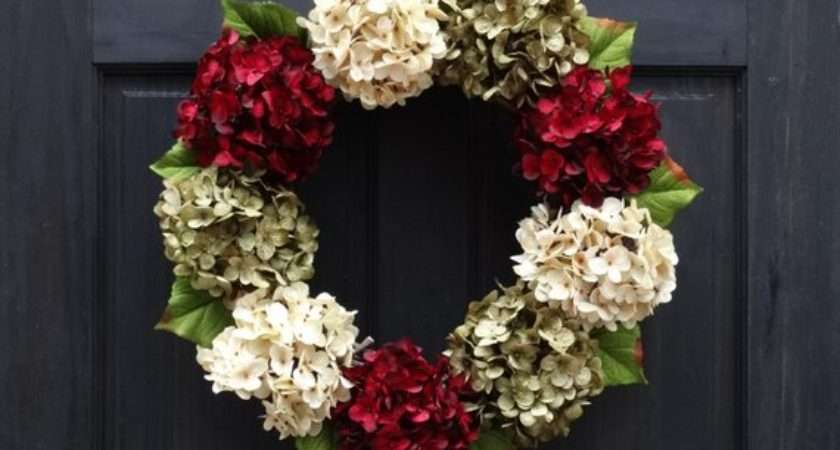 Modern Christmas Wreath Front Door Holiday