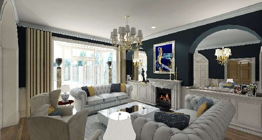 Modern Classic Living Room Facemasre