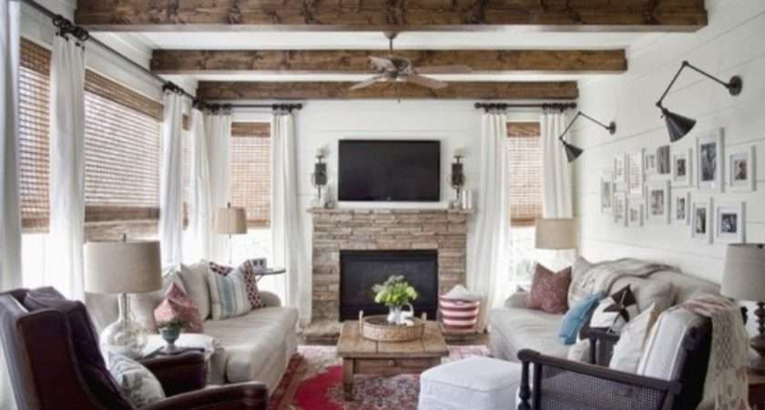 Modern Country Living Room Eclectic