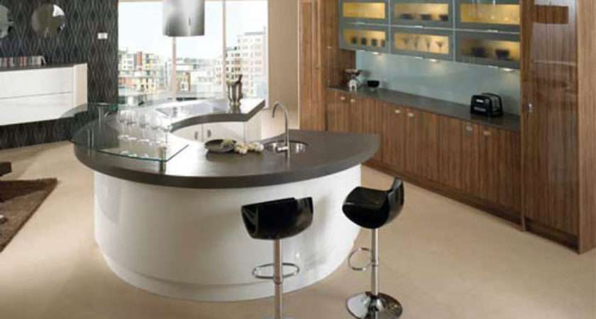 Modern Curved Kitchen Island Kitchentoday
