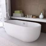 Modern Double Ended Curved Freestanding Bath