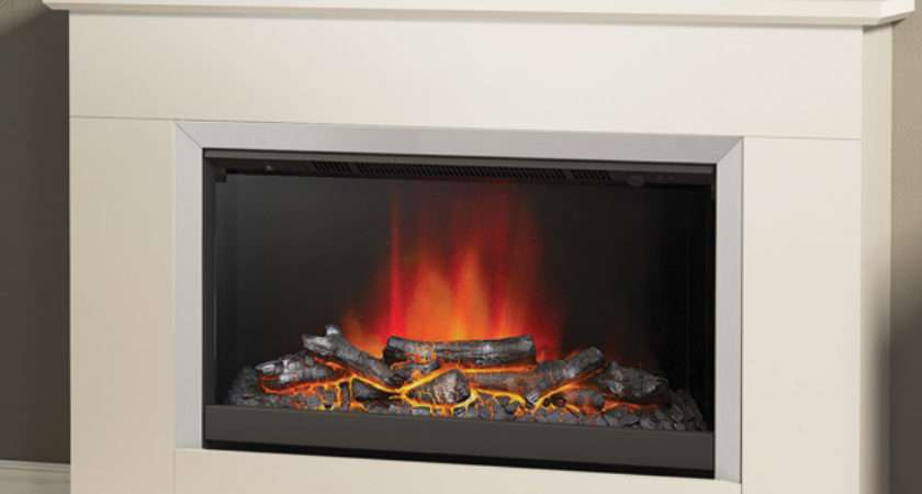 Modern Hansford Electric Fireplace Suite Flames