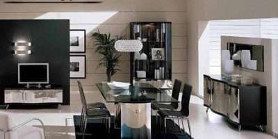 Modern Italian Dining Room Furniture Ideas Black White