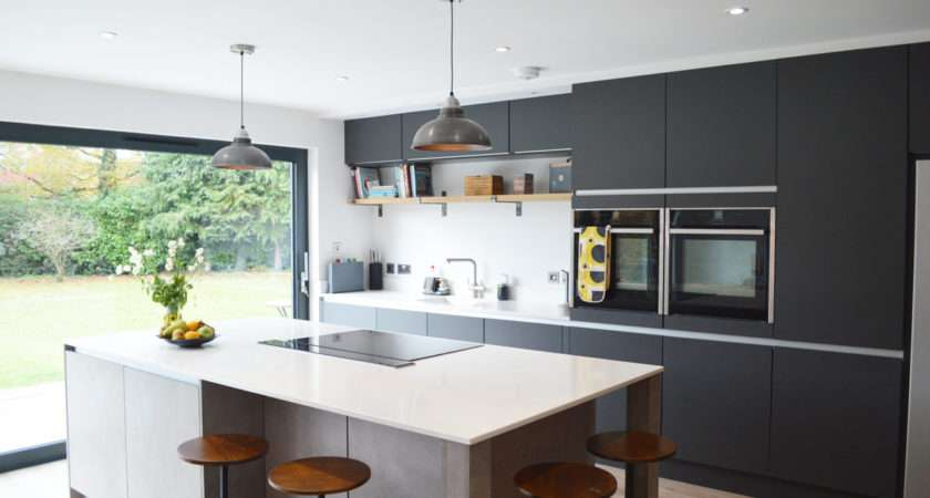 Modern Kitchen Installation London Dark Grey Matt