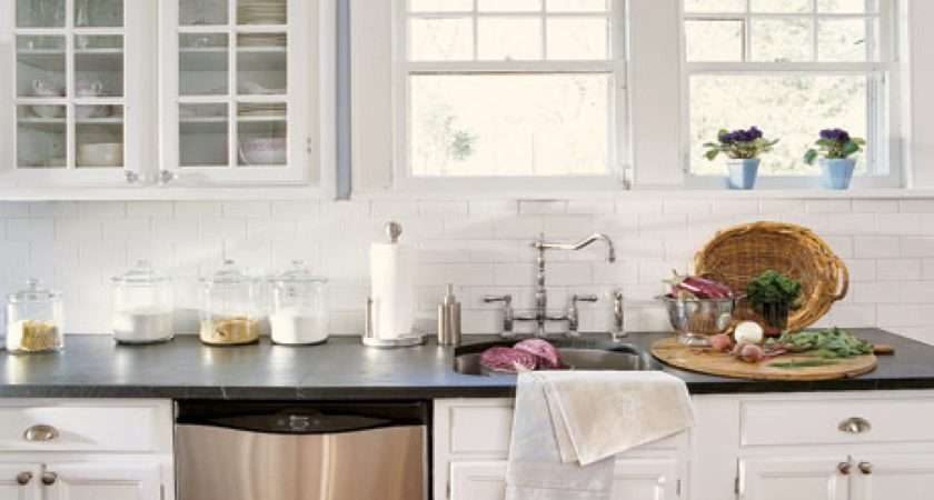 Modern Kitchens Subway Tile Backsplash Kitchen White