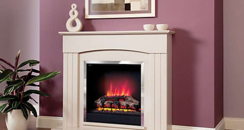 Modern Linmere Electric Fire Suite Wickes