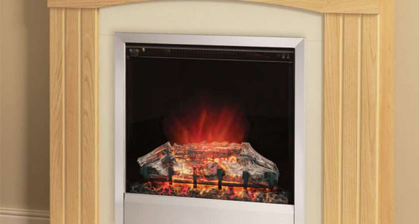 Modern Linmere Electric Fireplace Suite Natural Oak