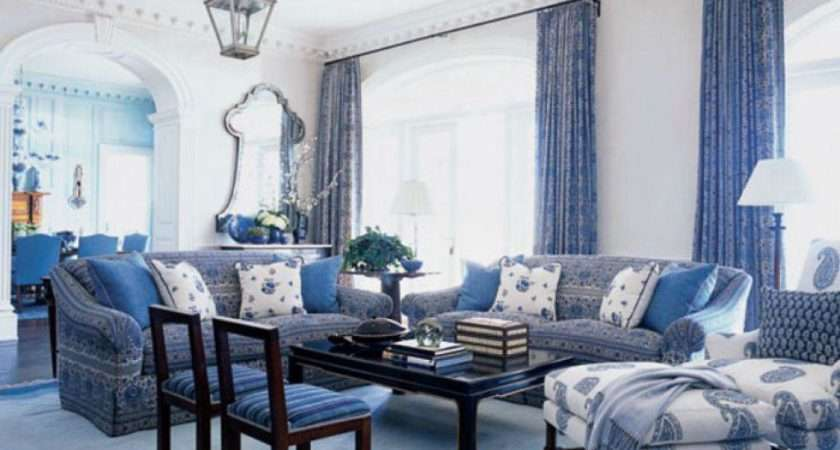 Modern Living Room Blue Curtains Ideas Covering