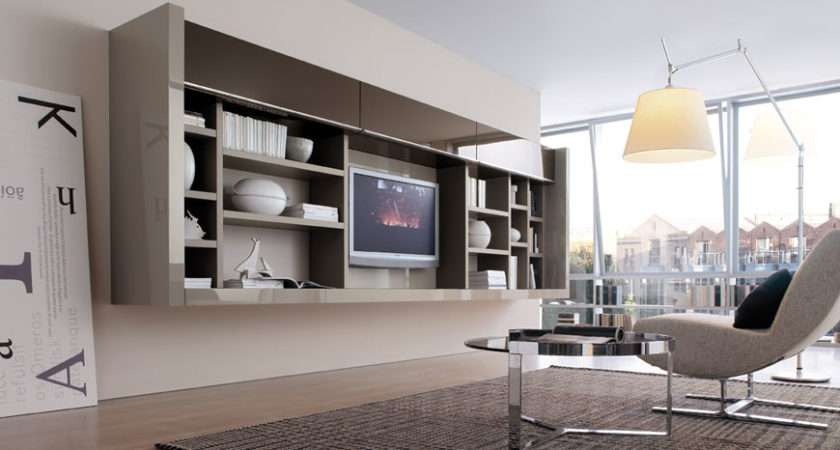 Modern Living Room Wall Units Book Storage Misuraemme