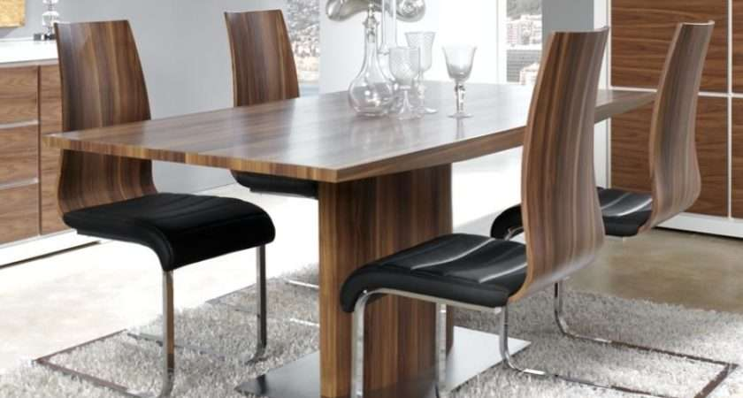 Modern Manhattan Walnut Look Veneer Extending Dining