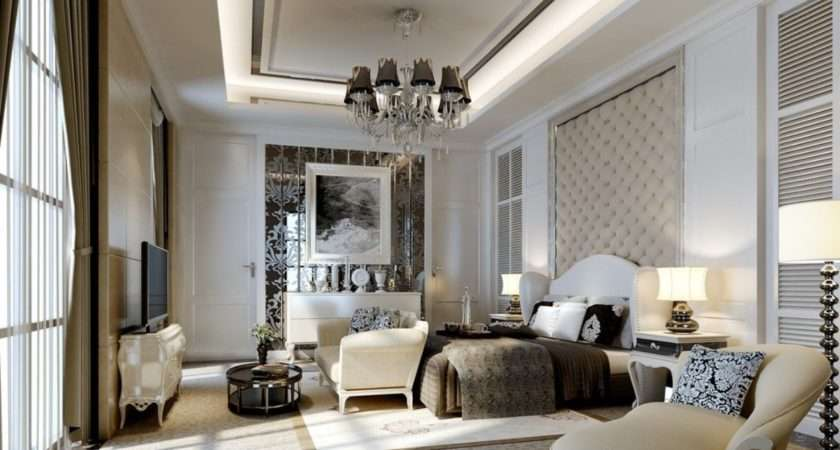Modern Master Bedroom Interior Design Rendering House