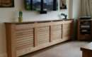 Modern Radiator Cover Oak Veneer Clear Satin Lacquer