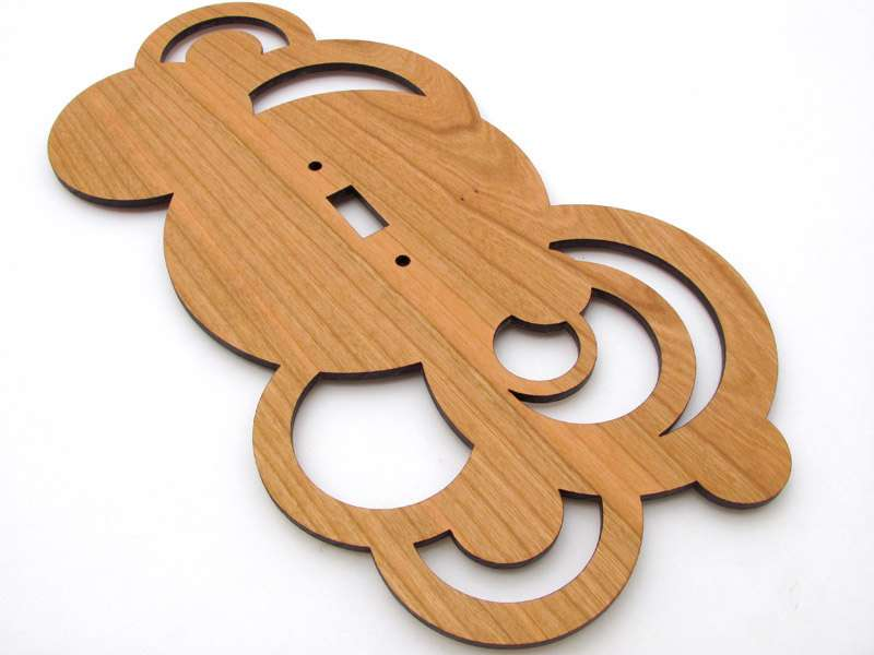 Modern Rustic Circles Wood Switch Plate Cover Timbergreenwoods
