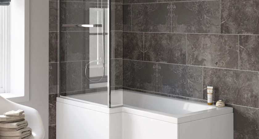 Modern Shape Shower Screen Bath Tub Bathroom Suite Ebay