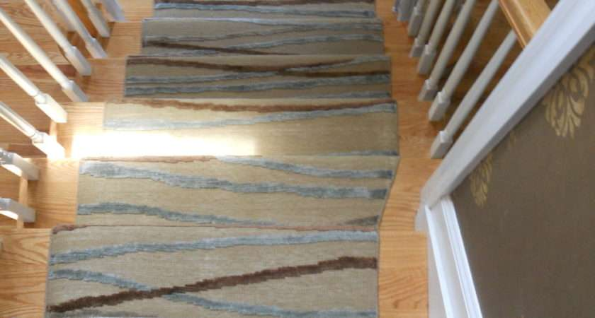 Modern Stair Runners Staircase Traditional Custom Stairs Grey