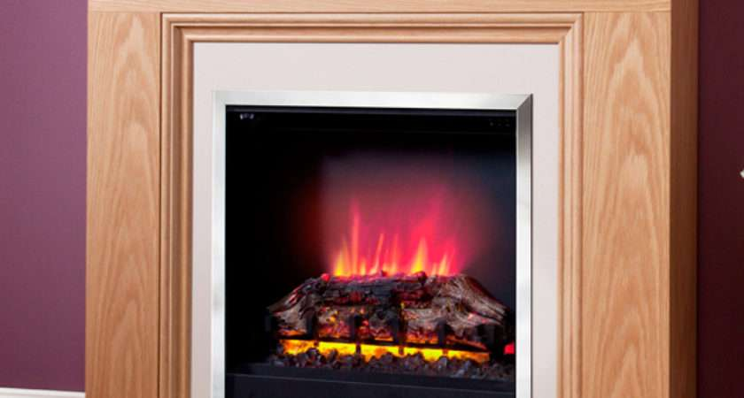 Modern Stanton Electric Fireplace Suite Flames