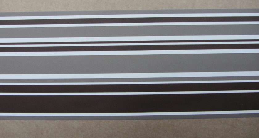 Modern Stripe Chocolate Border Self Adhesive Stripes Lines