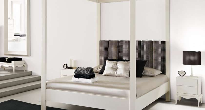Modern White Four Poster Bed Juliettes Interiors