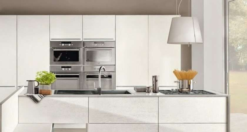Modern White Gloss Kitchen Units Combined Other Colors