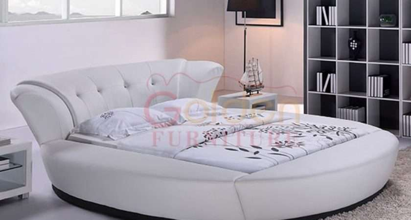 Modern White Leather Round Beds Kids Buy